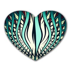 Retro Illusion Canvas Night Heart Mousepads