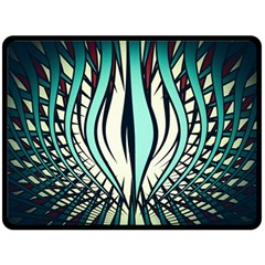 Retro Illusion Canvas Night Double Sided Fleece Blanket (large)