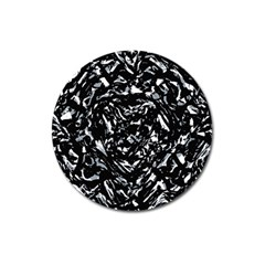 Dark Abstract Print Magnet 3  (round)
