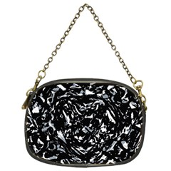 Dark Abstract Print Chain Purse (two Sides) by dflcprintsclothing