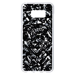 Dark Abstract Print Samsung Galaxy S8 Plus White Seamless Case