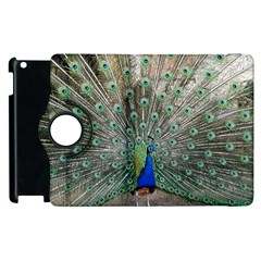 Peacock Bird Animal Feather Apple Ipad 3/4 Flip 360 Case