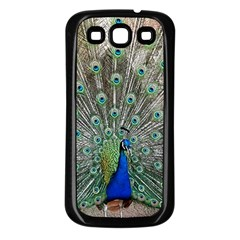 Peacock Bird Animal Feather Samsung Galaxy S3 Back Case (black)