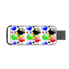 Pattern Background Wallpaper Design Portable Usb Flash (one Side)