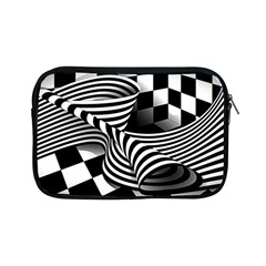 Op Art Black White Drawing Apple Ipad Mini Zipper Cases