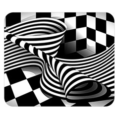 Op Art Black White Drawing Double Sided Flano Blanket (small)