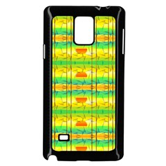Birds Beach Sun Abstract Pattern Samsung Galaxy Note 4 Case (black)