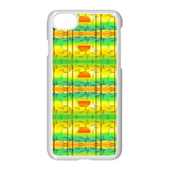 Birds Beach Sun Abstract Pattern Iphone 8 Seamless Case (white)