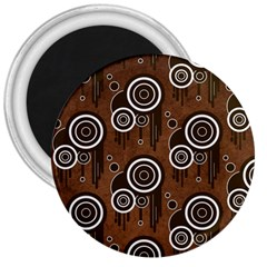 Abstract Background Brown Swirls 3  Magnets
