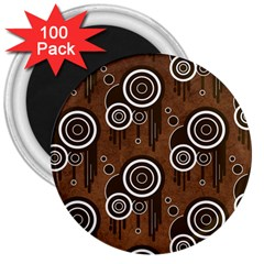 Abstract Background Brown Swirls 3  Magnets (100 Pack)