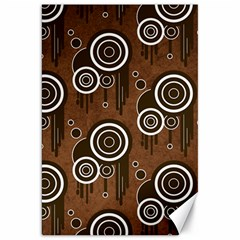 Abstract Background Brown Swirls Canvas 20  X 30