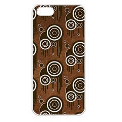 Abstract Background Brown Swirls Iphone 5 Seamless Case (white)