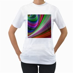 Illusion Background Blend Women s T-shirt (white) (two Sided) by Pakrebo