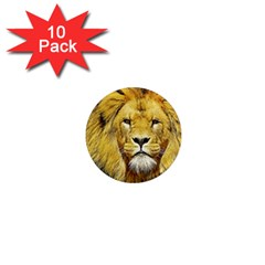 Lion Lioness Wildlife Hunter 1  Mini Magnet (10 Pack)