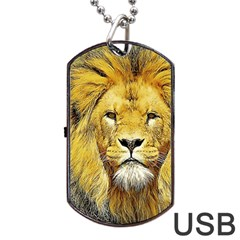Lion Lioness Wildlife Hunter Dog Tag Usb Flash (one Side)