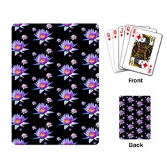 Flowers Pattern Background Lilac Playing Cards Single Design