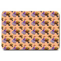 Flowers Girl Barrow Wheel Barrow Large Doormat