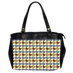 Ducklings Background Ducks Cute Oversize Office Handbag (2 Sides)
