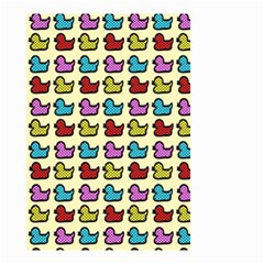 Ducklings Background Ducks Cute Small Garden Flag (two Sides)