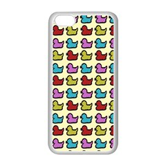 Ducklings Background Ducks Cute Iphone 5c Seamless Case (white)