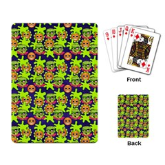 Smiley Background Smiley Grunge Playing Cards Single Design