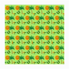 Holiday Tropical Smiley Face Palm Medium Glasses Cloth
