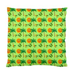 Holiday Tropical Smiley Face Palm Standard Cushion Case (two Sides)