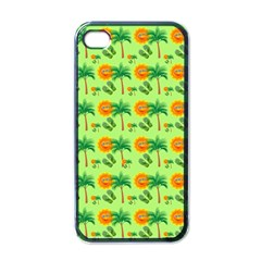 Holiday Tropical Smiley Face Palm Iphone 4 Case (black)