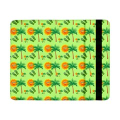 Holiday Tropical Smiley Face Palm Samsung Galaxy Tab Pro 8 4  Flip Case