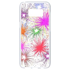Star Dab Farbkleckse Leaf Flower Samsung Galaxy S8 White Seamless Case by Pakrebo
