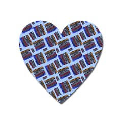 Abstract Pattern Seamless Artwork Heart Magnet by Pakrebo