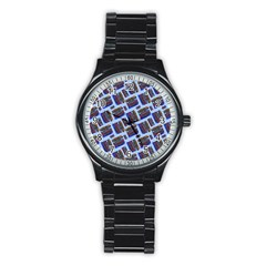 Abstract Pattern Seamless Artwork Stainless Steel Round Watch