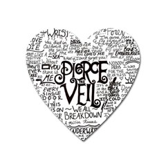 Pierce The Veil Music Band Group Fabric Art Cloth Poster Heart Magnet by Sudhe
