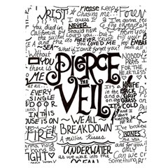 Pierce The Veil Music Band Group Fabric Art Cloth Poster Apple Ipad Pro 10 5   Black Frosting Case