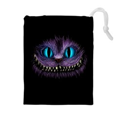 Cheshire Cat Animation Drawstring Pouch (xl) by Sudhe