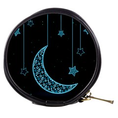 Moon Star Neon Wallpaper Mini Makeup Bag by Jojostore