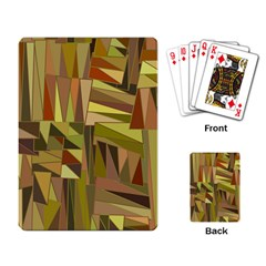 Earth Tones Geometric Shapes Unique Playing Cards Single Design by Mariart