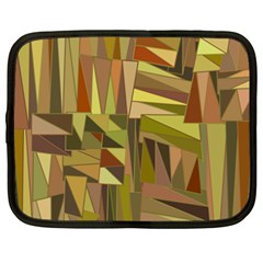 Earth Tones Geometric Shapes Unique Netbook Case (xxl)