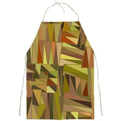 Earth Tones Geometric Shapes Unique Full Print Aprons