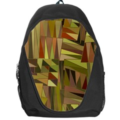 Earth Tones Geometric Shapes Unique Backpack Bag