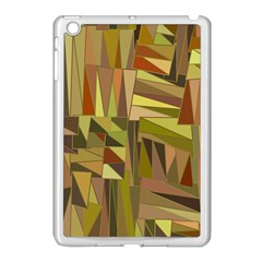 Earth Tones Geometric Shapes Unique Apple Ipad Mini Case (white)