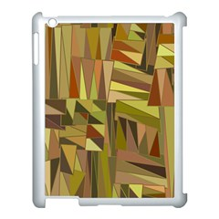 Earth Tones Geometric Shapes Unique Apple Ipad 3/4 Case (white)