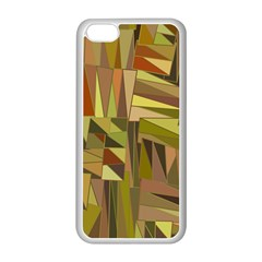 Earth Tones Geometric Shapes Unique Iphone 5c Seamless Case (white)