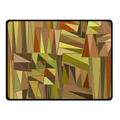 Earth Tones Geometric Shapes Unique Double Sided Fleece Blanket (small)