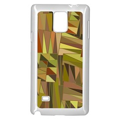 Earth Tones Geometric Shapes Unique Samsung Galaxy Note 4 Case (white)