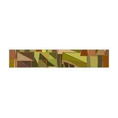 Earth Tones Geometric Shapes Unique Flano Scarf (mini)