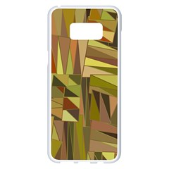 Earth Tones Geometric Shapes Unique Samsung Galaxy S8 Plus White Seamless Case