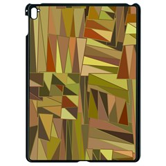 Earth Tones Geometric Shapes Unique Apple Ipad Pro 9 7   Black Seamless Case