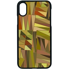 Earth Tones Geometric Shapes Unique Iphone Xs Seamless Case (black)