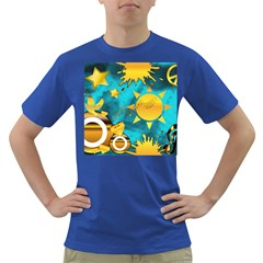 Gold Music Clef Star Dove Harmony Dark T Shirt